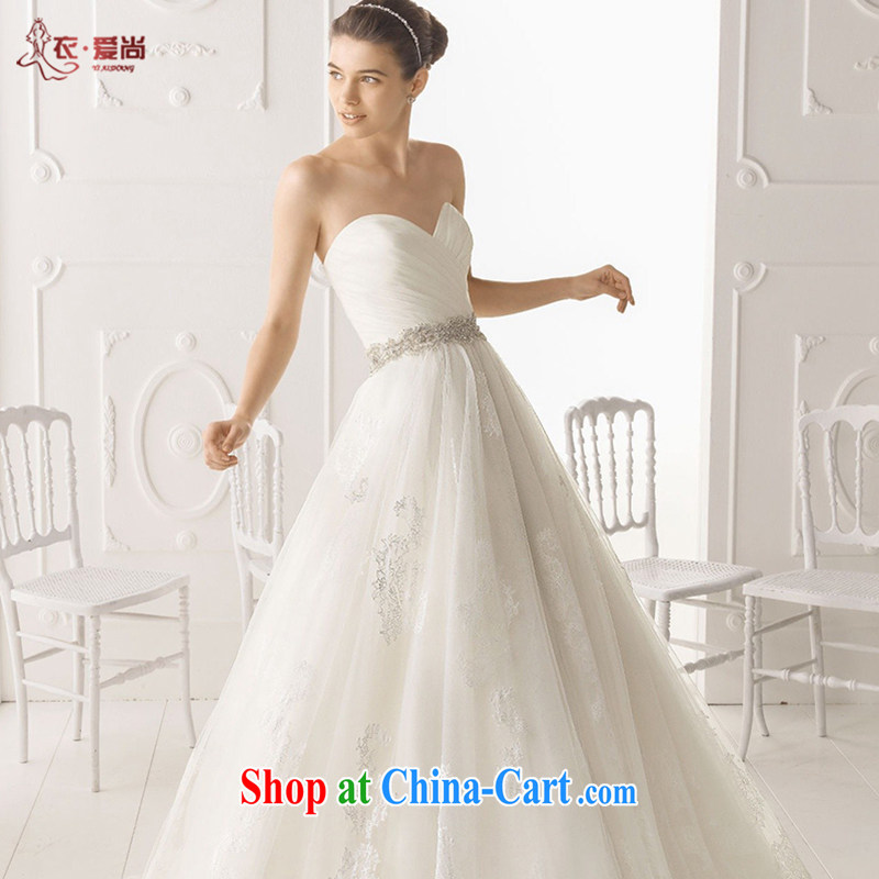 Yi love is 2015 new wedding dresses bridal wedding custom is also erased in Europe and chest wedding dresses long-tail new lace white upscale wedding white to make the $30 does not return