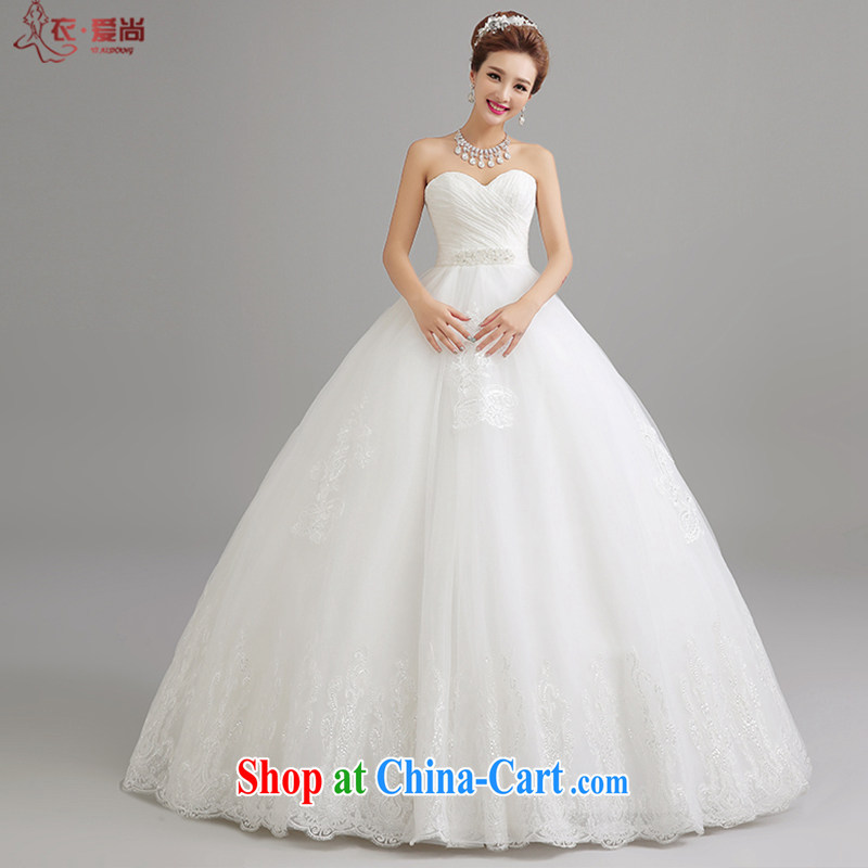 Yi love is still the mothers pregnant women bridal wedding high waist Korean lace wiped his chest to graphics thin wedding summer 2015 new wedding dresses female white to make the $30 does not return