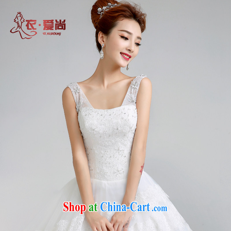 Yi love is summer 2015 new wedding dresses sexy shoulders with Wedding Video thin Korean fashion lace wedding bridal marriage a Field shoulder wedding female white to make the _30 does not return