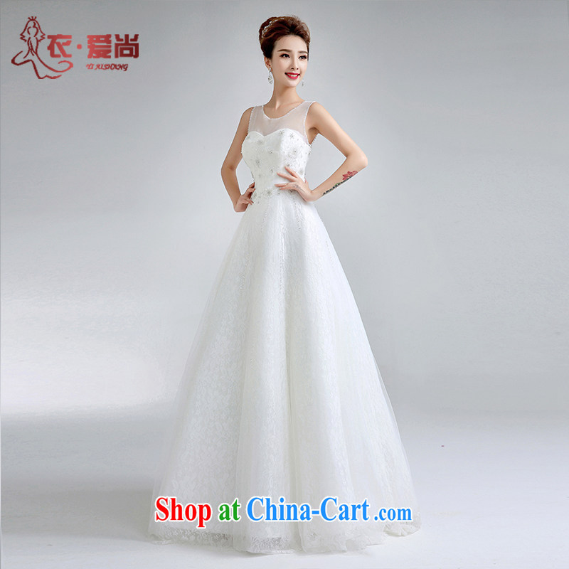 Yi love is summer 2015 new wedding dresses bridal marriage with A with Wedding Video thin Korean-style double-shoulder strap wedding white to make the $30 does not return