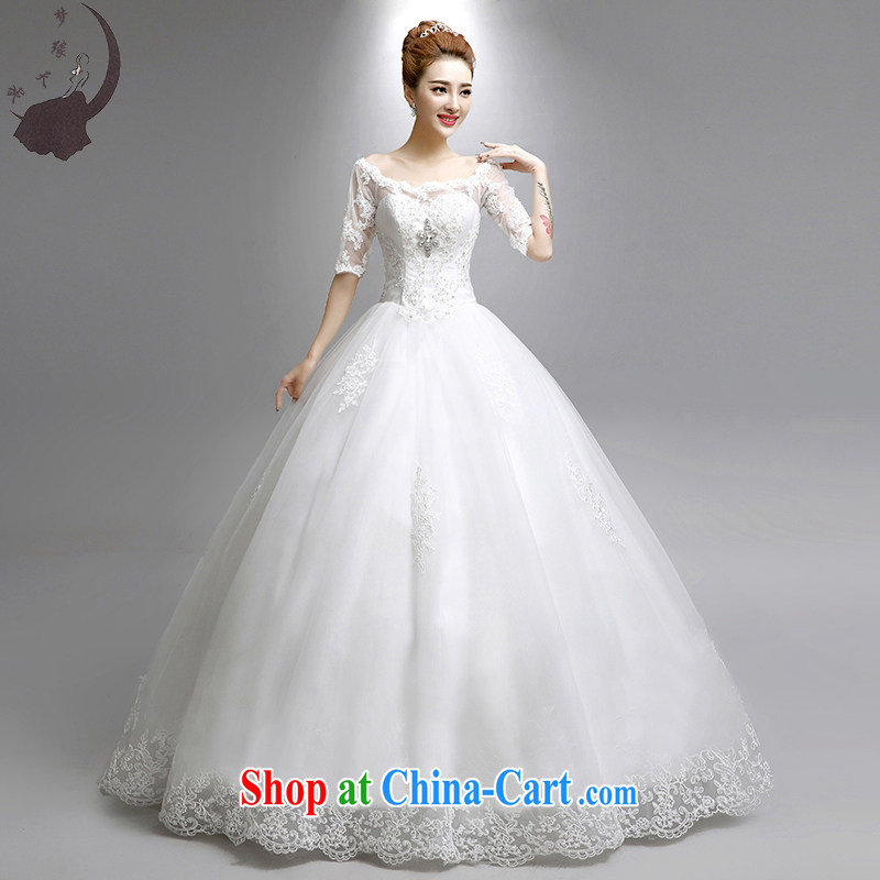 Dream of the day a shoulder, Japan, and South Korea version lace with tail wedding dresses skirt new, summer 2015 regular edition with XXL paragraph 2.3 feet waist