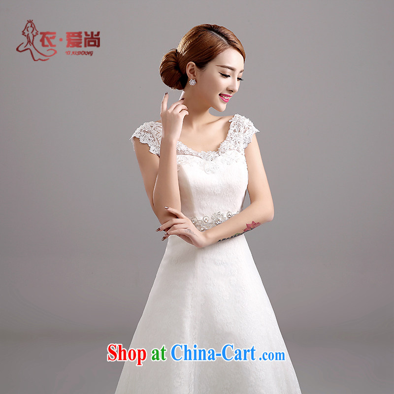 Yi love yet stylish Korean shoulders and elegant bridal with straps spring A Field dress graphics thin wedding dresses new 2015 summer white to make the $30 not return