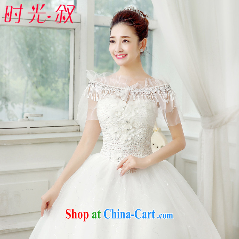 Syria Time 2015 new marriages wedding dresses shawls 100 ground summer lace long Graphics thin thin small jacket sunscreen clothing, Japan, and South Korea small jacket white