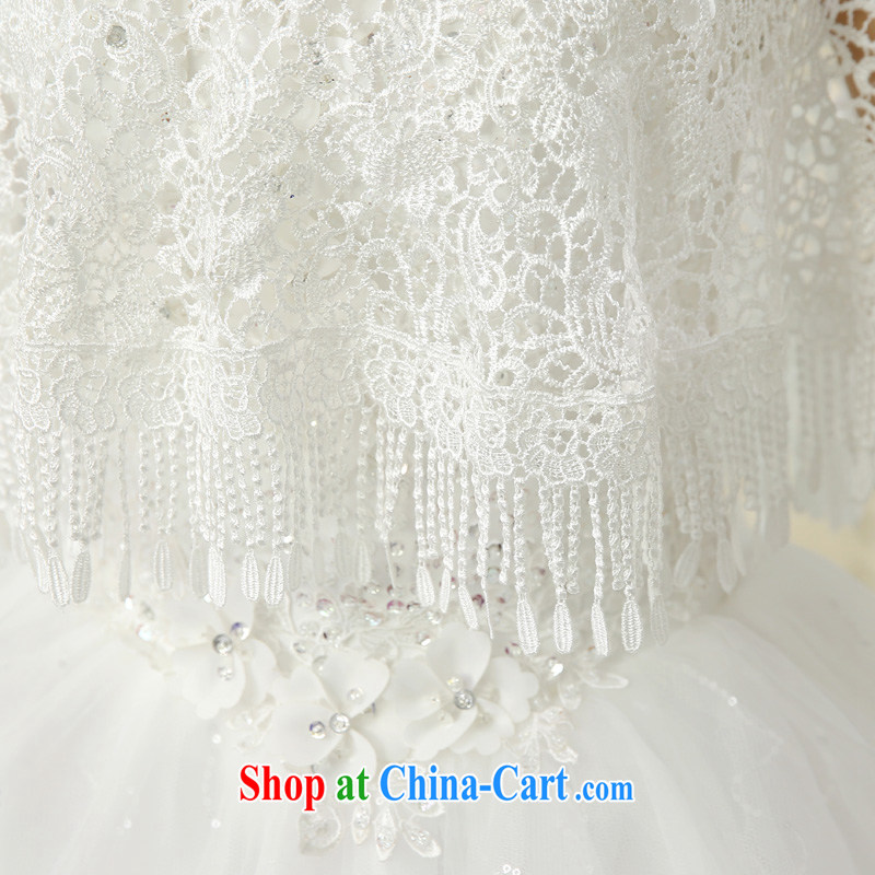Syria Time 2015 new marriages lace shawl, Japan, and South Korea wedding accessories summer white thin, wood drilling bridesmaid dress, a small jacket white, time, and shopping on the Internet