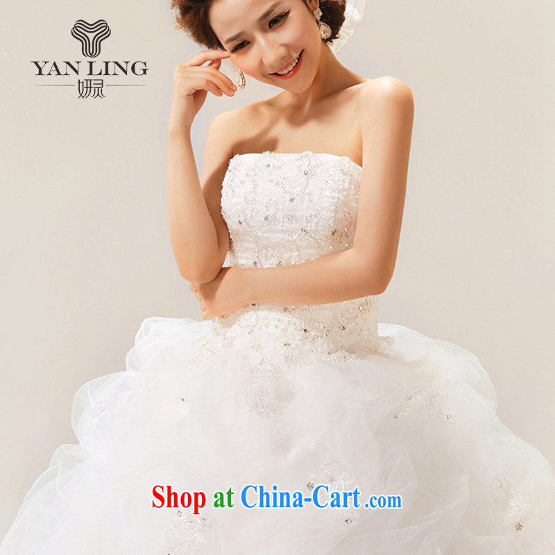 Her spirit 2015 new Korean Korean sweet wiped his chest to tie bridal wedding dresses white S, her spirit, and on-line shopping