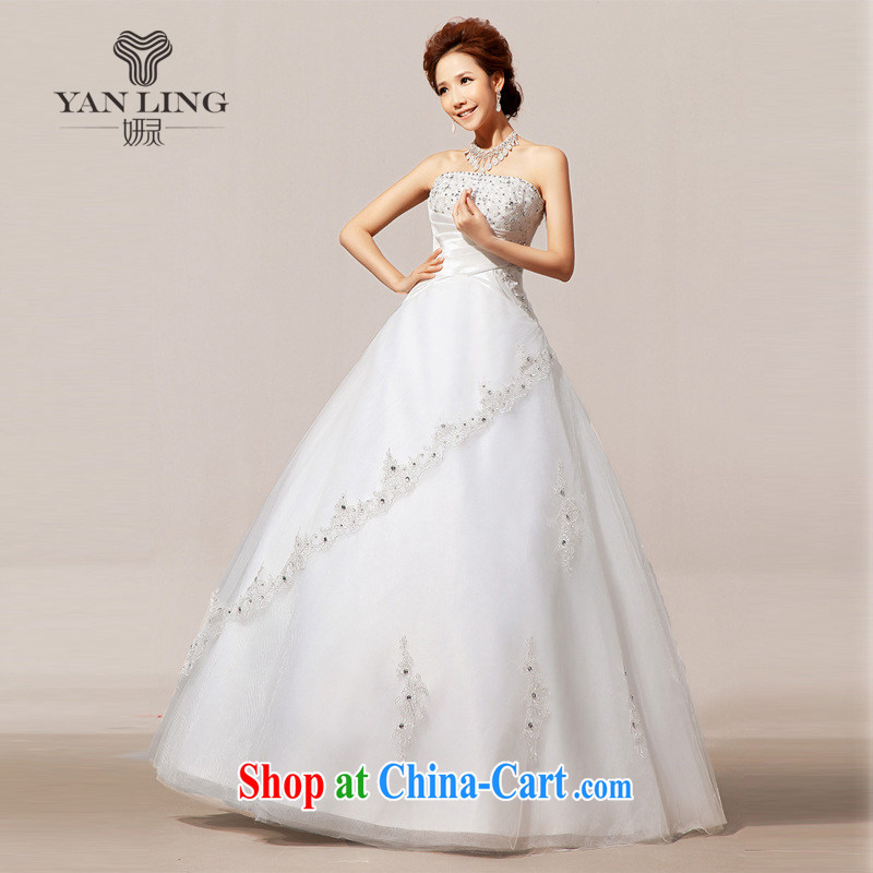Her spirit 2015 new wedding tail winter wedding wedding erase chest wedding dresses skirts HS 80 white S