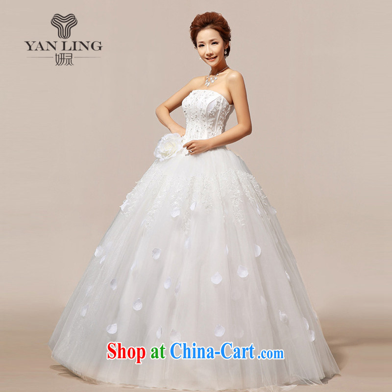 Her spirit 2015 new Korean Korean stars with sweet flowers marriages wedding dresses HS 118 white S