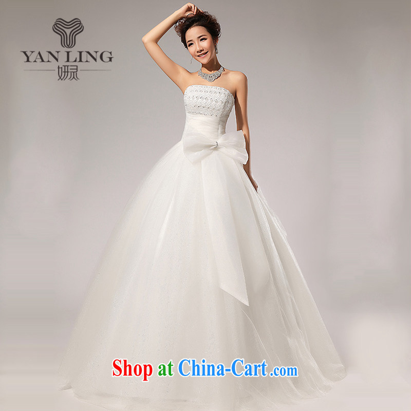Her spirit 2015 new wedding verawang style wedding wiped chest Korean wedding dresses HS 59 white S