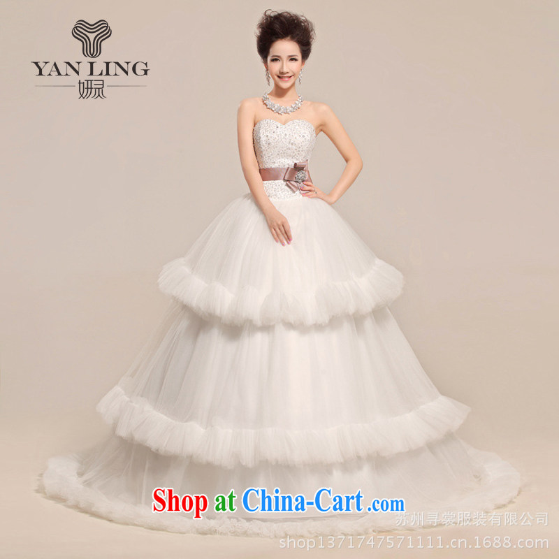 Her spirit 2015 new heart Mary Magdalene flowers chest waist wave skirts wedding dresses white S