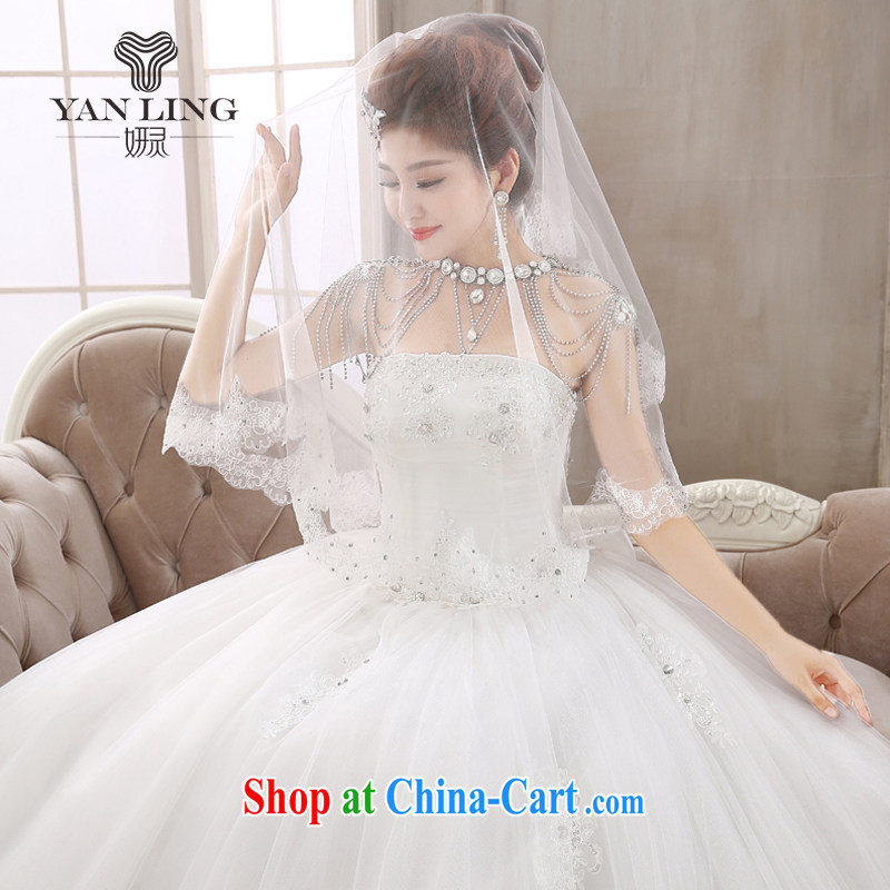 Her spirit Bridal diamond jewelry erase chest Korean wedding dresses new 2015 with straps butterfly wedding dresses HS 409 white S