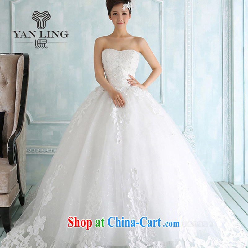 Her spirit 2015 new winter wedding dresses lace, erase chest strap Korean with wedding photo building theme clothing white XXL
