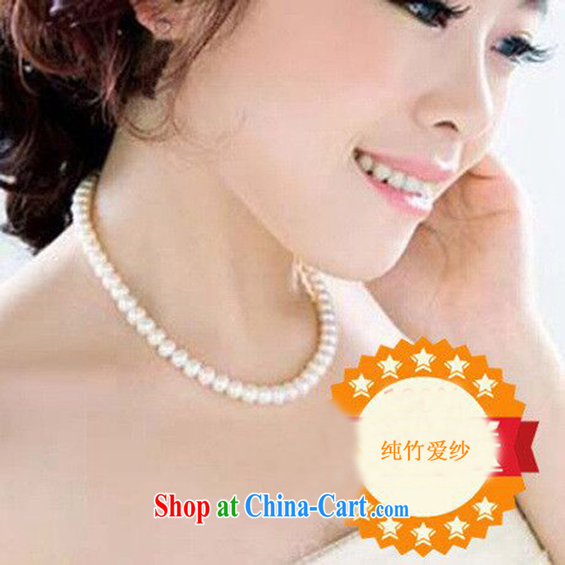 Pure bamboo yarn love wedding accessories pearl necklace wedding dresses dresses accessories bridal bridesmaid jewelry white