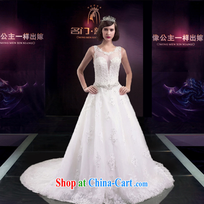 The bride's 2015 summer wedding dresses wedding dresses drag and drop the field shoulder banquet-tail wedding 2593 tailored the 20_