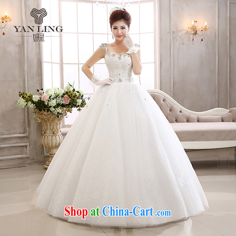 Her spirit 2015 new lace flash drill shoulder strap with skirts Princess bride wedding wedding dresses HS L 592