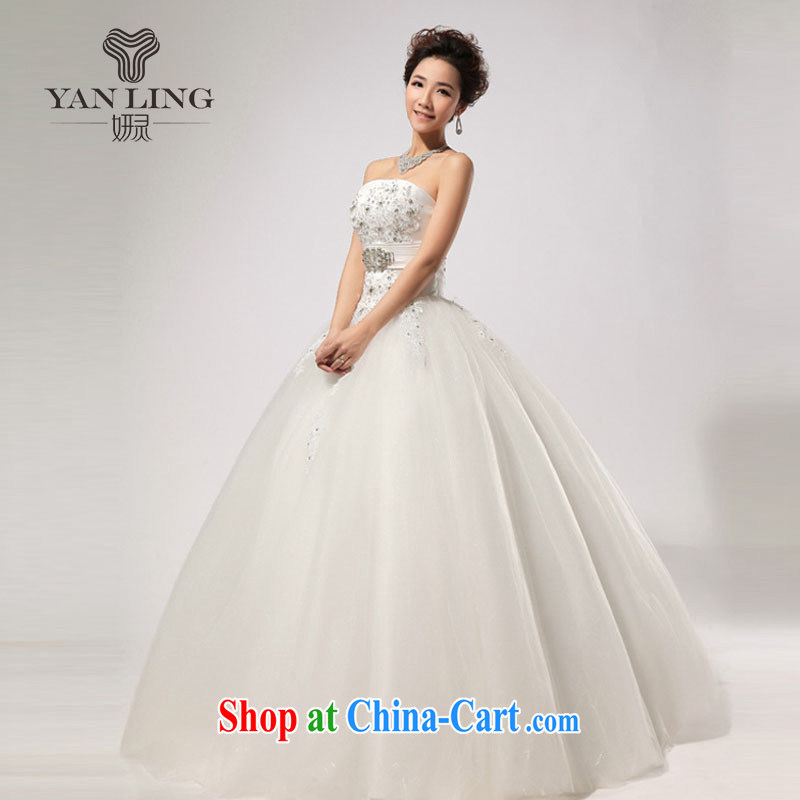 Her spirit 2015 new wedding wood drill manual seamless drill video thin strap wipe chest wedding HS 269 white XXL