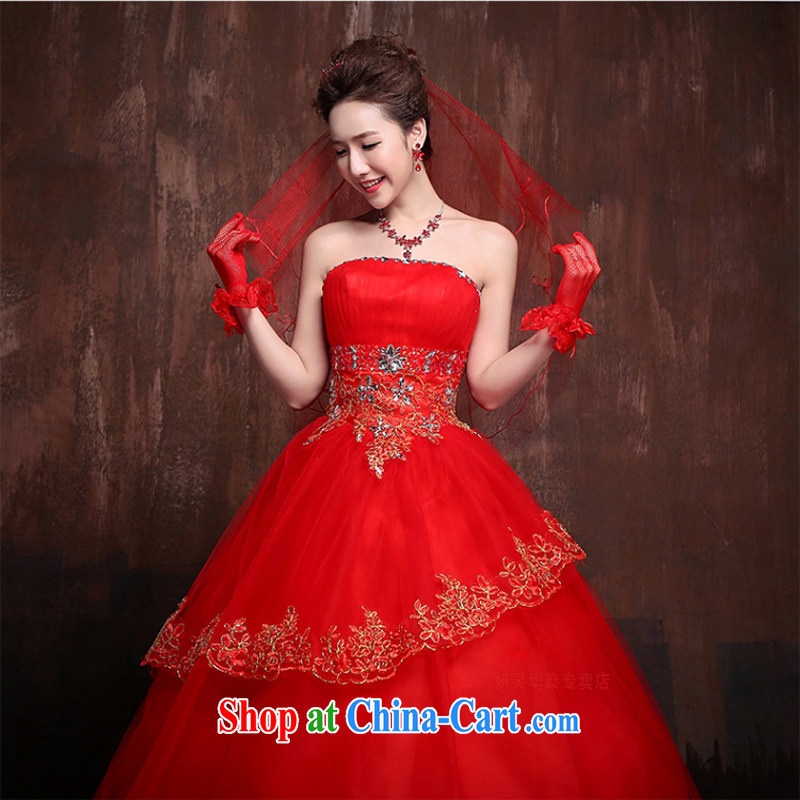 Her spirit 2015 new Korean Korean stars with sweet flowers marriages wedding dresses J L 0013