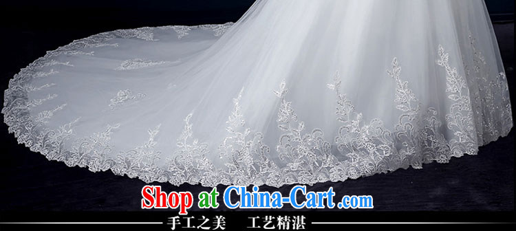 wedding dresses 2015 new summer sweet bare chest wedding fashion the tail wedding bridal wedding lace strap wedding Korean parquet drill wedding hand sewing white tail L pictures, price, brand platters! Elections are good character, the national distribution, so why buy now enjoy more preferential! Health