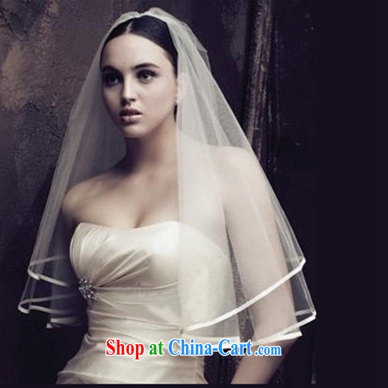 2015 New Products jewelry and ornaments and yarn veil manually only the US flowers cover the Korean-style sweet marriages wedding and yarn are code white