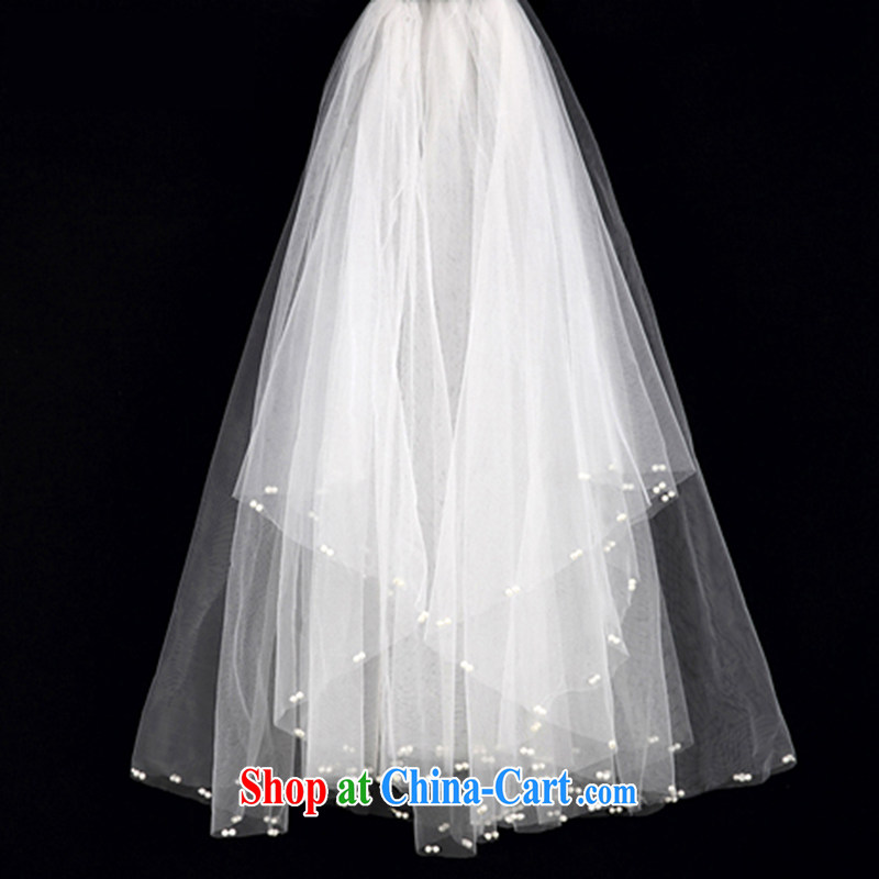 The yarn Pearl magic, white Korean-style multi-tier wedding and yarn soft wedding dress with white