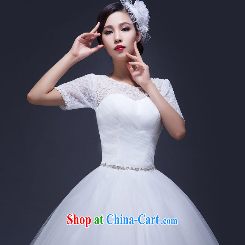 Snow Lotus wedding dresses new 2015 summer field shoulder with lace pregnant large code beauty graphics thin marriages wedding white XL