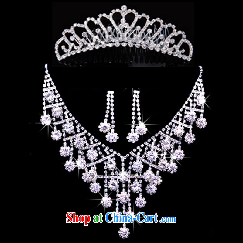 Pure bamboo yarn love wedding dresses accessories, diamond necklace Crown offer portfolio wedding photography bridal jewelry silver