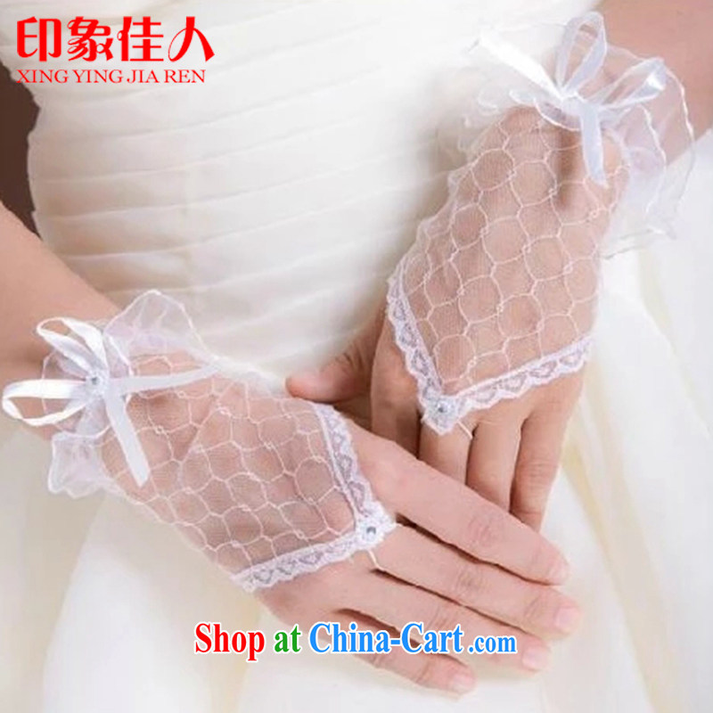 Leigh impression wedding dresses bridal gloves short bridal jewelry butterfly knot Korean-style gloves YS 1018