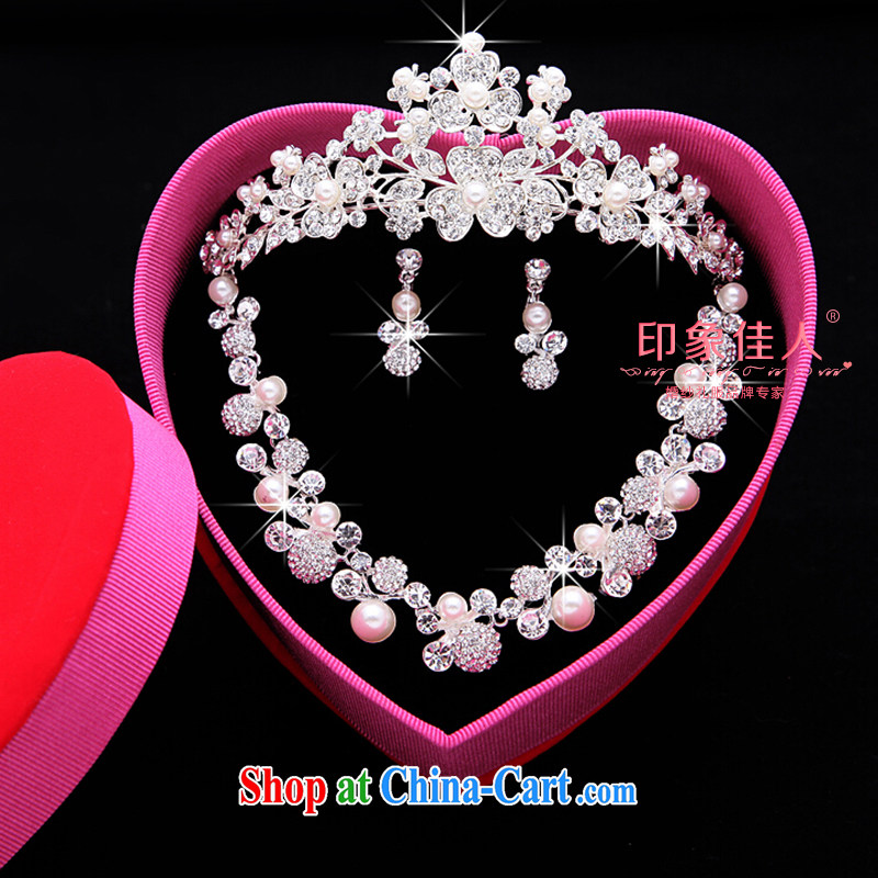Leigh impression bridal jewelry and ornaments 3-piece kit wedding accessories Korean marriage crystal diamond necklace earrings hair accessories large crown YX 3011 pictures, price, brand platters! Elections are good character, the national distribution, so why buy now enjoy more preferential! Health