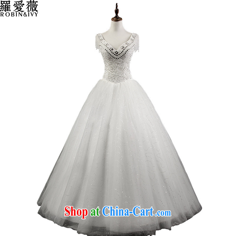 Love, Ms Audrey EU Yuet-mee, RobinIvy), Japan, and the ROK wedding dresses 2015 spring and summer new shoulders with diamond jewelry marriages H 34,561 white L