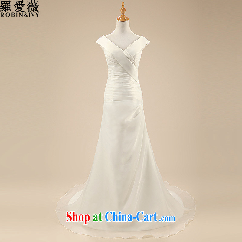 Love, Ms Audrey EU Yuet-mee, RobinIvy), Japan, and the ROK wedding dresses 2015 spring and summer new Korean shoulders crowsfoot tail marriages H 34,614 white XL