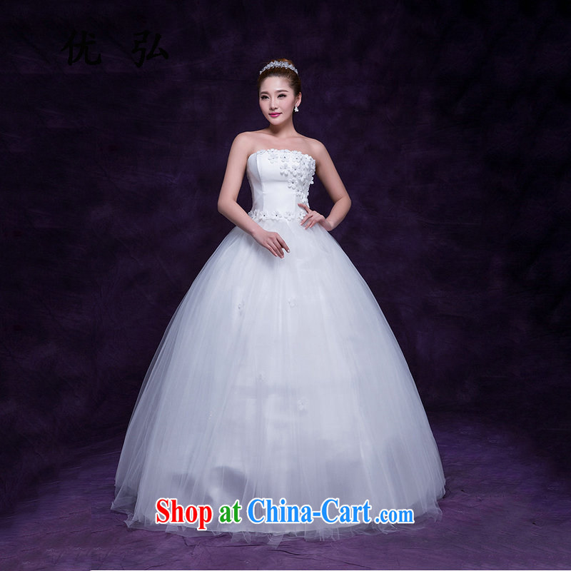 Optimize Video white dresses bridal wedding wedding dresses wiped his chest to the waist graphics thin flowers wedding simple DM 5103 white L
