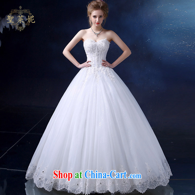 Holy, Connie wedding dresses 2015 summer with wedding new continental erase chest strap the Code women married Princess dress sleeveless bridal gown white M