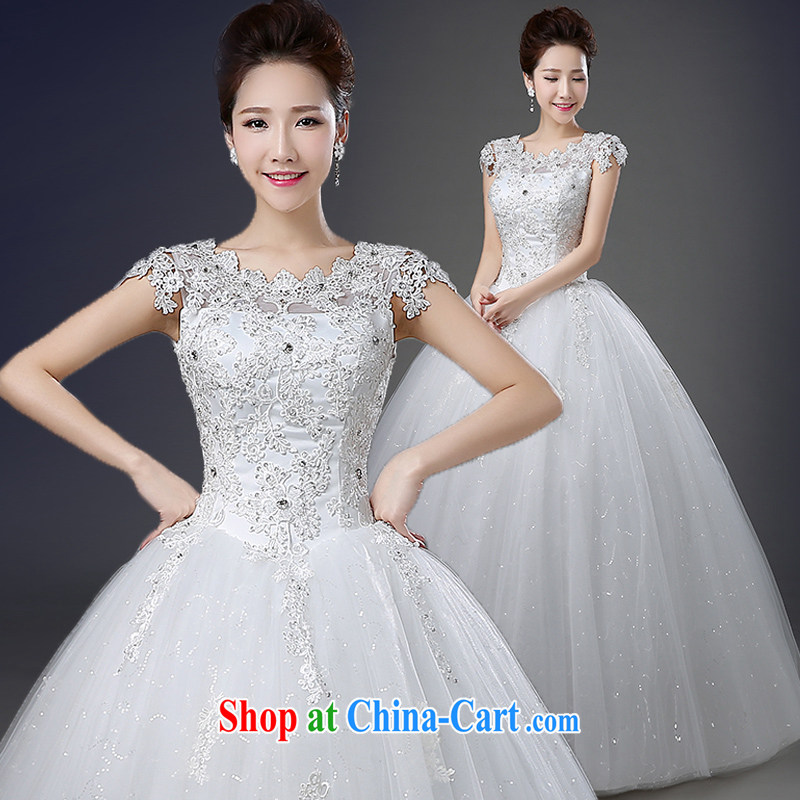Wedding a Field shoulder spring and summer with new 2015 Korean-style bridal wedding lace the code strap inserts drill with dress photography wedding white XXXL