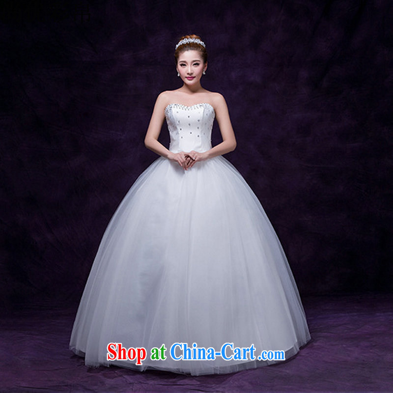 There are optimized color Kingfisher 2015 new erase chest white yarn marriages with the waist graphics thin wedding dresses simple and sweet Princess DM 4105 white are code