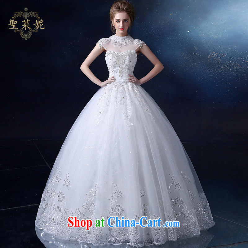 Holy, Connie wedding dresses wedding dresses 2015 spring and summer new continental water drilling wiped his chest, Ms. White Graphics thin large, pregnant women lace wedding white M