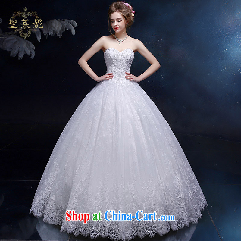 Holy, Connie wedding dresses 2015 new larger flowers shaggy dress marriage Ms. larger continental style bridal wedding dresses white M
