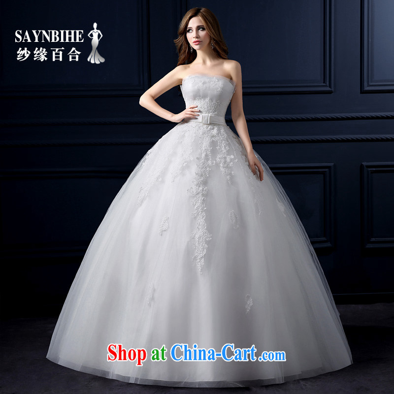 Yarn edge 100, wedding dresses new 2015 spring and summer wiped chest wedding Korean lace straps with wedding bridal wedding video thin Princess shaggy dress stylish tail white tailor advanced customization
