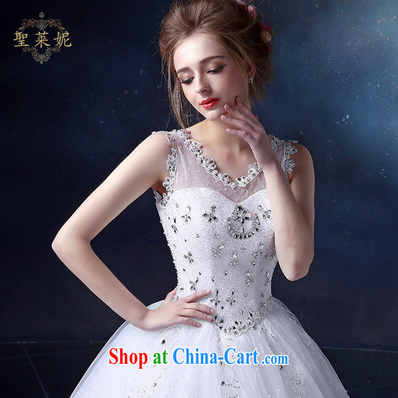 Holy, Connie wedding dresses 2015 new Korean sweet high-waist high, stylish lace shoulders, Ms. White Graphics thin wedding white M, holy, Connie (Sheng lai Ni), online shopping