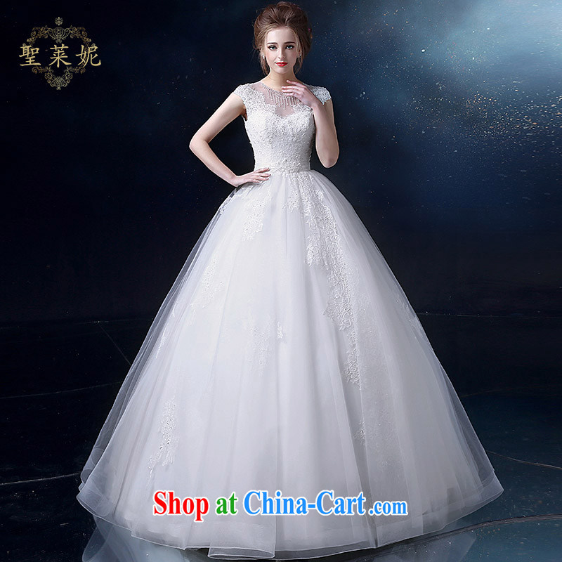 Holy, Connie wedding dresses 2015 summer new, large, holy, Connie custom double-shoulder lace V collar marriages wedding dresses, dress white M