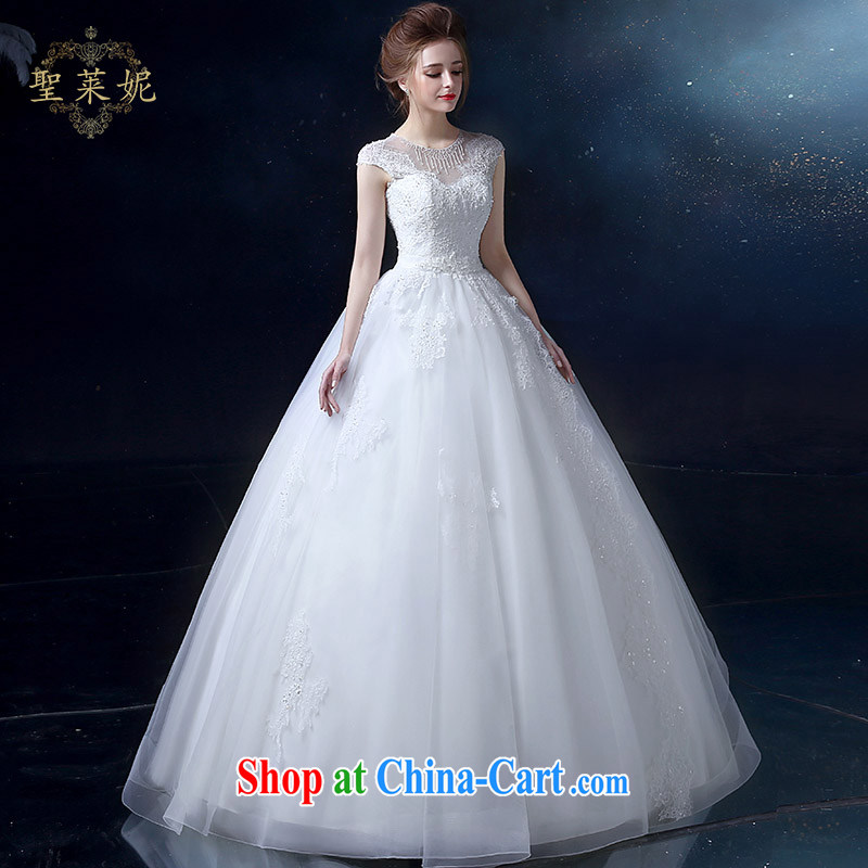 Holy, Connie wedding dresses 2015 summer new large, holy, Connie custom double-shoulder lace V collar marriages wedding dresses, dress white M, holy, Connie (Sheng lai Ni), and shopping on the Internet