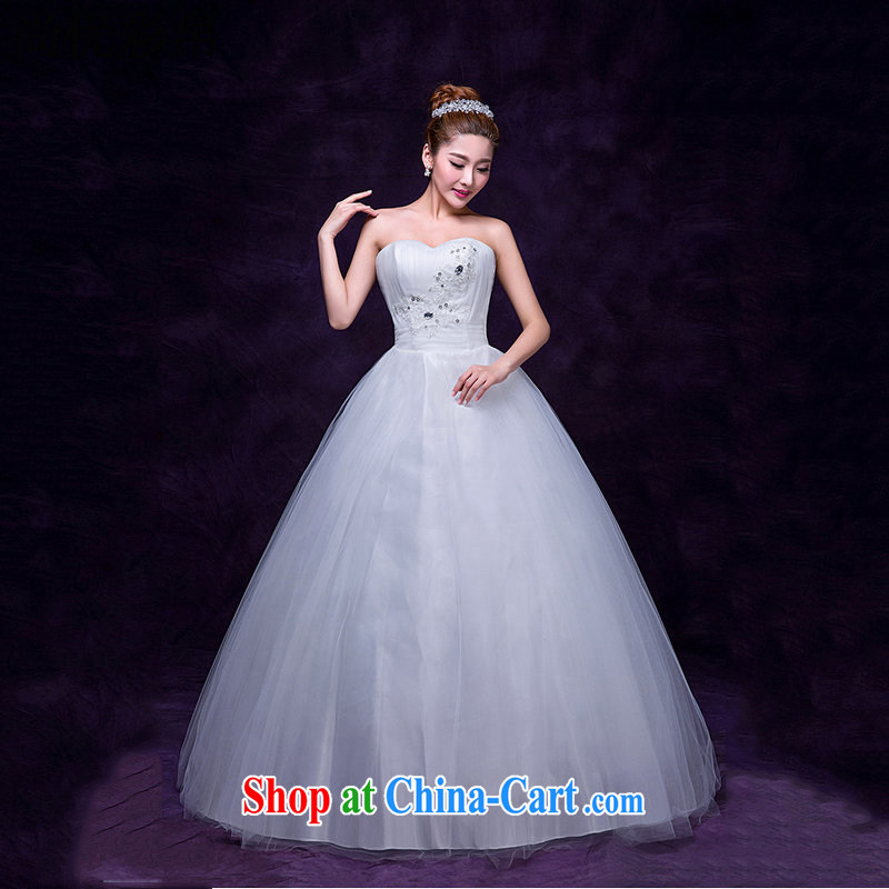 It is also optimized condolence wiped out chest Pearl bridal wedding dresses the waist straps Wedding Video thin elegant with wedding DM 3104 white are code