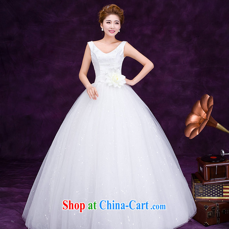 There are optimized color Kingfisher 2015 new erase chest shoulders embroidered white yarn marriages with the waist graphics thin wedding dresses simple sweet Princess DM 3105 white XL