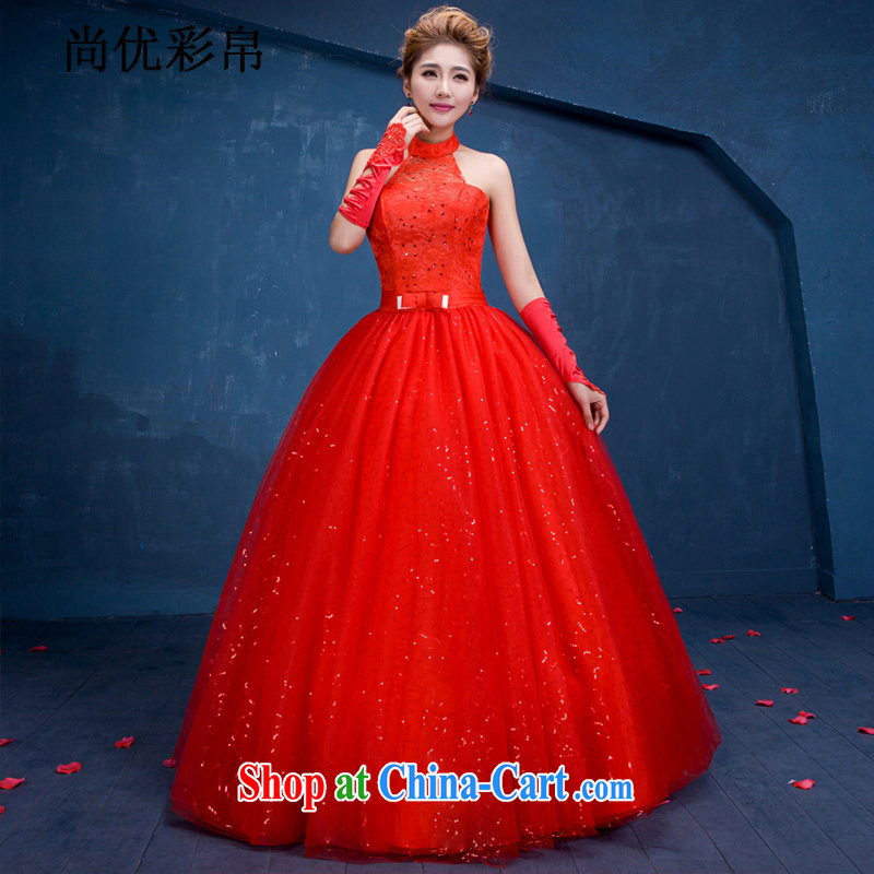 There are optimized color Kingfisher China wind wedding dresses marriages with Red Beauty graphics thin back exposed sexy wedding DM 3107 red XL