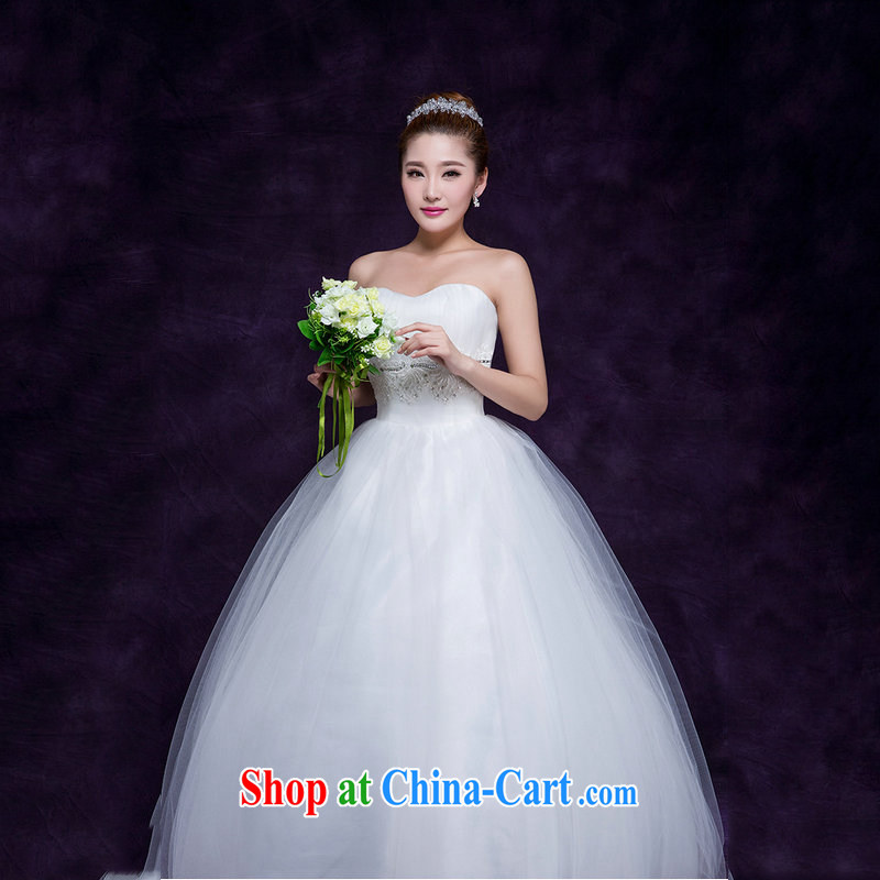 There are optimized color Kingfisher 2015 new erase chest white yarn marriages with the waist graphics thin wedding dresses simple sweet Princess DM 3108 white are code