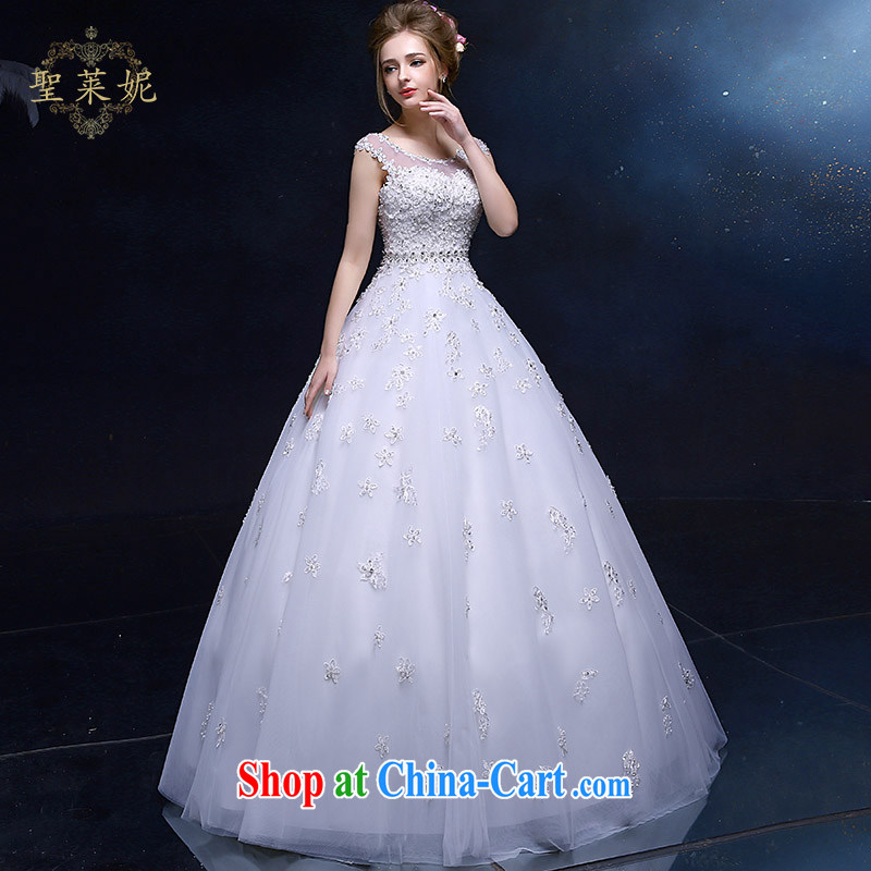 Holy, Connie wedding dresses 2015 new continental style shoulders A Field dress lace flowers, white wedding wedding dresses white M, holy, Connie (Sheng lai Ni), online shopping