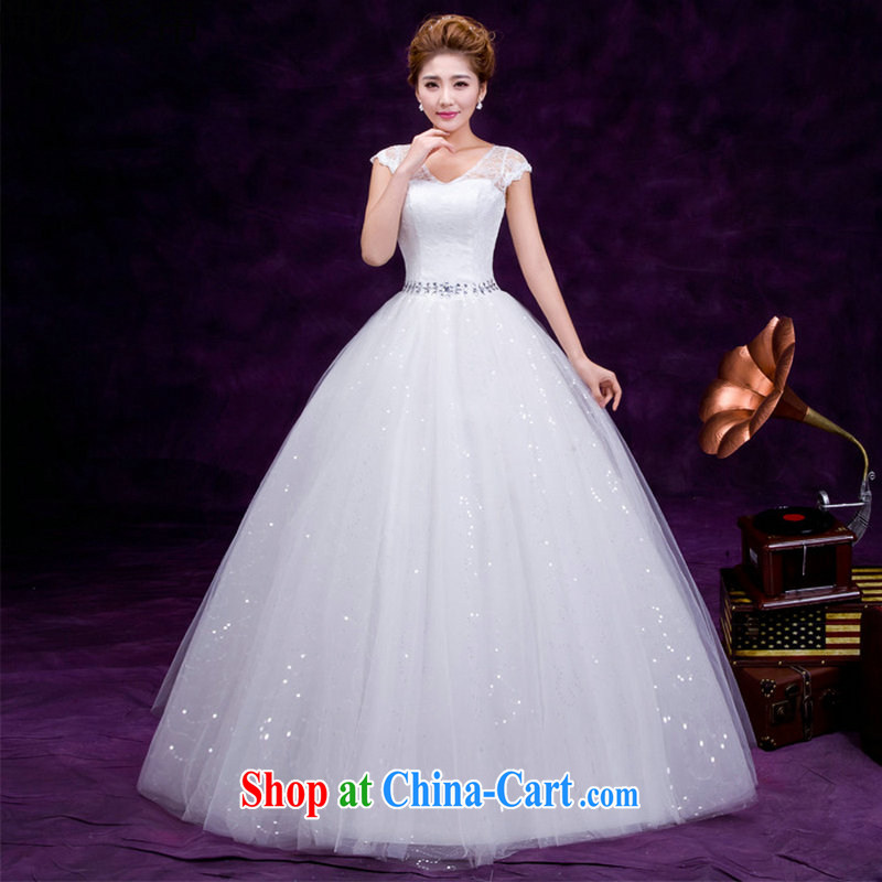 There are optimized color Kingfisher wedding dresses new 2015 Deep V sexy lace wedding white beauty deluxe double-shoulder wedding dresses DM 3109 white L
