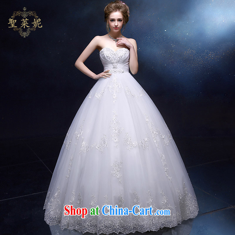 Holy, Connie wedding dresses bride's female, Princess wedding continental Palace wiped his chest in the Marriage Code erase chest dress custom dress white M