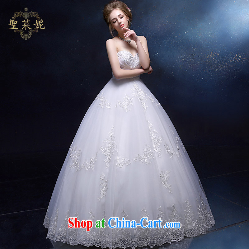 Holy, Connie wedding dresses bride's female, Princess wedding continental Palace wiped his chest in the Marriage Code erase chest dress custom dress white M, holy, Connie (Sheng lai Ni), and, on-line shopping