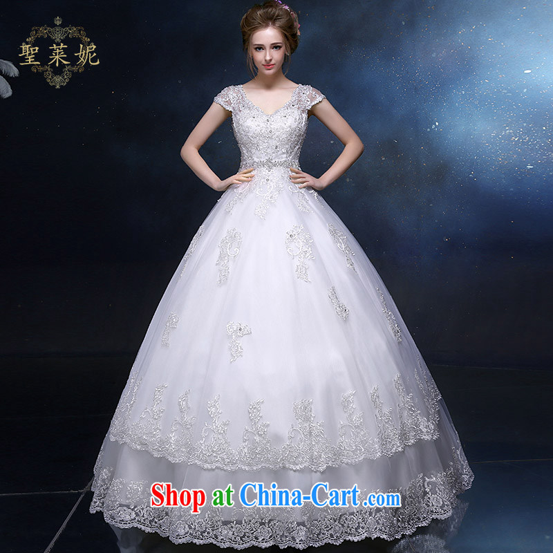 Holy, Connie wedding dresses 2015 New A Field dress elegant shoulders, the Marriage Code wedding dresses continental minimalist graphics thin white M