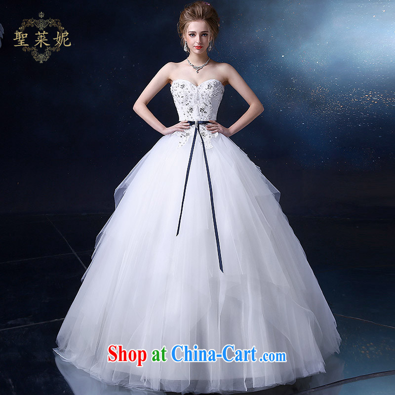 Holy, Connie wedding dresses 2015 new erase chest wedding irregular skirt with European-style fashion, the custom code wedding dresses white M