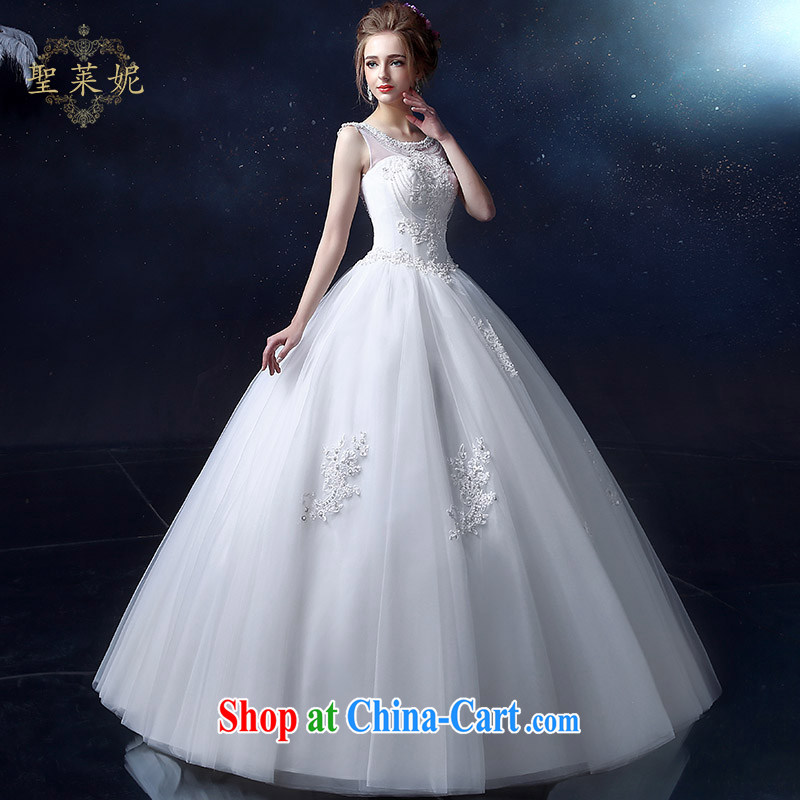Holy, Connie wedding dresses 2015 spring and summer new Korean Format a Field shoulder with custom bridal graphics Thin women shoulders wedding white S